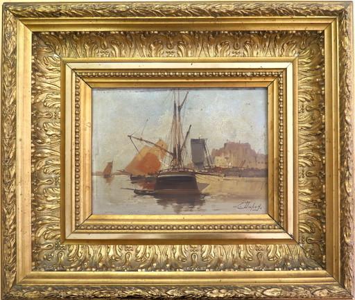 Eugène GALIEN-LALOUE - Painting - Le port