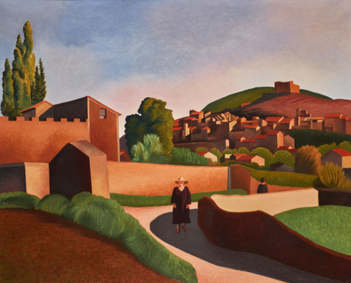 Auguste HERBIN - Painting - Le Chemin du Bon Ange à Vaison-la-Romaine