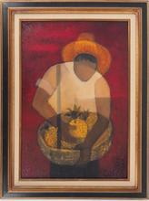 Louis TOFFOLI - Pintura - Brazil : Man with Pineapple