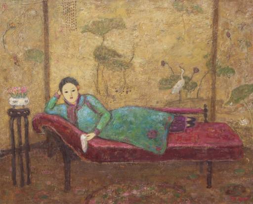 JIA Juanli - Pintura - Femme allongée