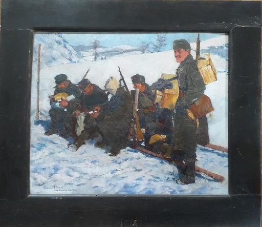 Heinrich HÖNICH - 绘画 - Feldpost am Pasubio - Südtirol
