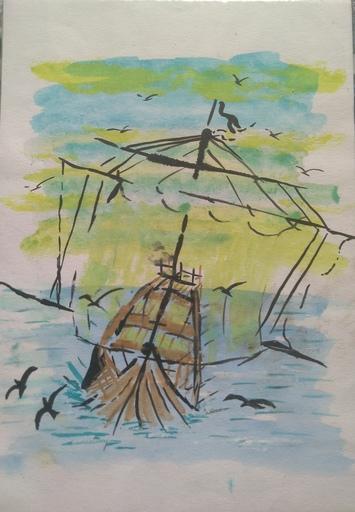 """Gérard DUPIRÉ - Drawing-Watercolor - Navigation """"Le sans esquisse """""""