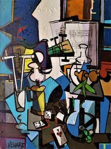 Claude VENARD - Pintura - as de coeur