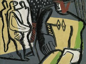 LE CORBUSIER, Trois figures derrière une femme