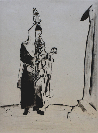 Marc CHAGALL - Grabado - The Rabbi, from: My Life | Der Rabbi, aus: Mein Leben