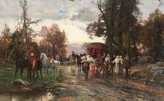 Cesare Augusto DETTI - Pintura - A Safe Passage