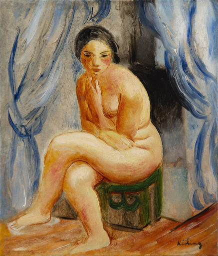 Moïse KISLING - Painting - Nu assis
