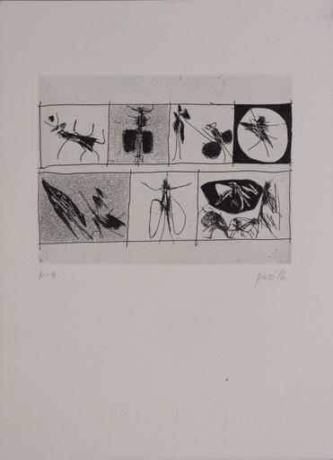 Achille PERILLI - 版画 - Senza titolo da L 'Avanguardia internazionale', vol. 4