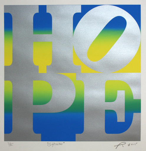 Robert INDIANA - Estampe-Multiple - HOPE September