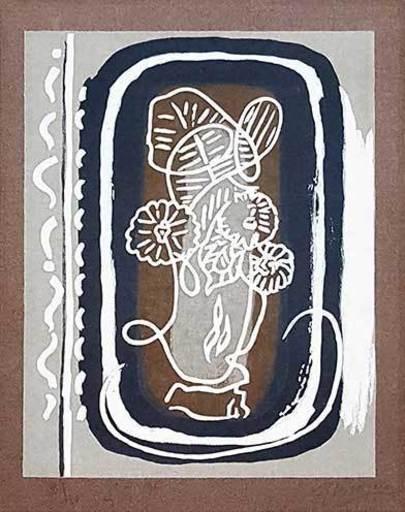 Georges BRAQUE - Grabado - Fleurs
