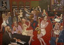 William FENECH - Pintura - café des artistes