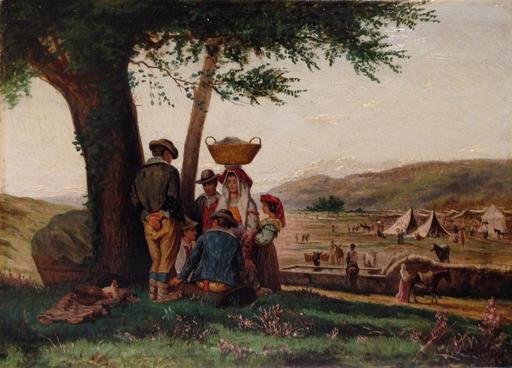 Aurelio TIRATELLI - Peinture - La fiera di Grottaferrata