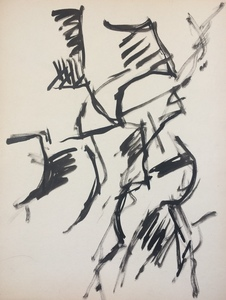 Jacques GERMAIN - Drawing-Watercolor - Composition vers 1955/1960