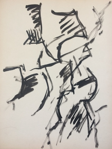 Jacques GERMAIN - Dessin-Aquarelle - Composition vers 1955/1960