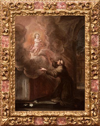 Francisco ANTOLINEZ Y SARABIA - Pintura - Aparición del Niño Jesús a San Antonio de Padua