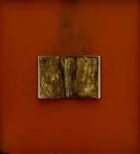 Bernard AUBERTIN - Peinture - Livre brulé
