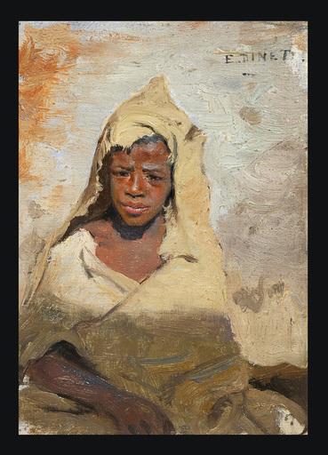 Etienne Alphonse DINET - Painting - Jeune Fellah