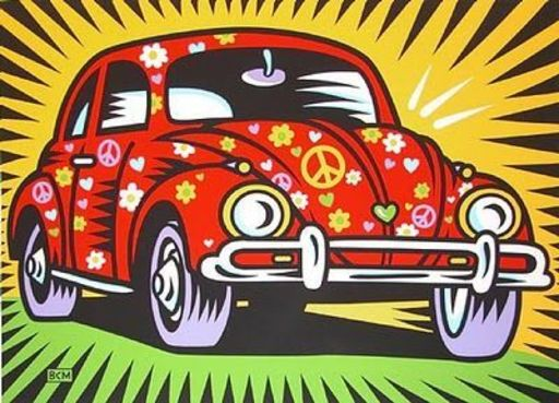 Burton MORRIS - Print-Multiple - Peace Lovebug