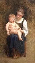 William Adolphe BOUGUEREAU - Pittura - Avant le Bain