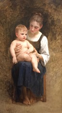 William Adolphe BOUGUEREAU - Pintura - Avant le Bain