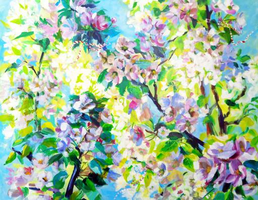 KSELMA RANDVALD - Gemälde - Blooming Apple Tree