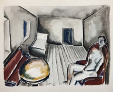 Ossip ZADKINE - Drawing-Watercolor - Interior