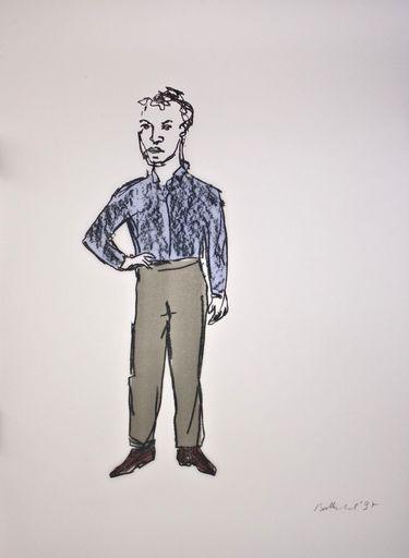 Stephan BALKENHOL - Stampa-Multiplo - Mann mit weißem Hemd