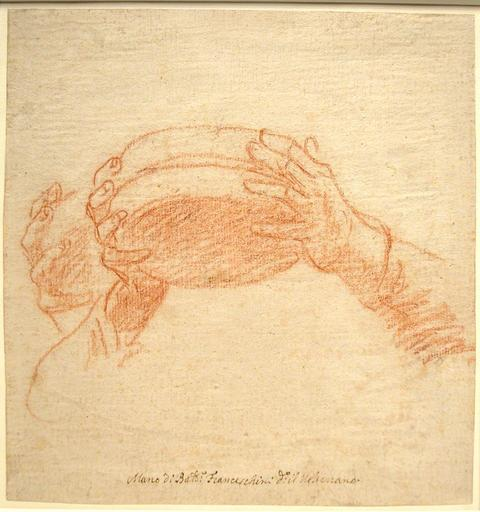 Baldassare FRANCESCHINI - Drawing-Watercolor - Study of Hands Holding a Bowl