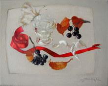 Tatjana PALCUKA - Painting - Still Life with Red Beetle    (Cat N° 5432)