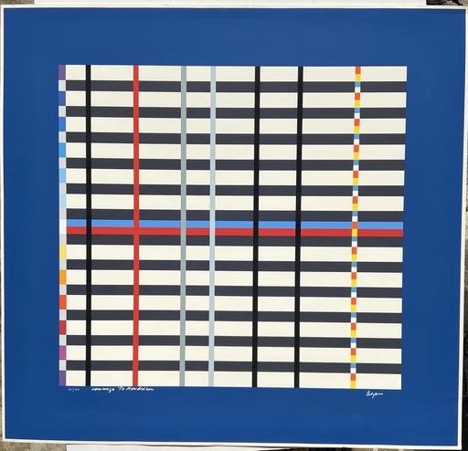 Yaacov AGAM - Druckgrafik-Multiple - Hommage à Mondrian - 1975 - Yaacov Agam