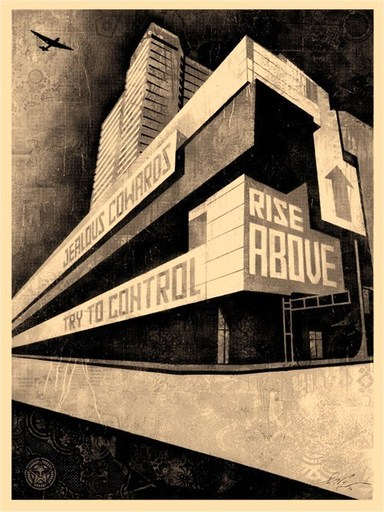 谢帕德·费瑞 - 版画 - 'Rise Above'