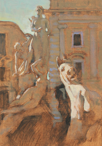 Antoine VINCENT - Gemälde - Sculpture à Syracuse