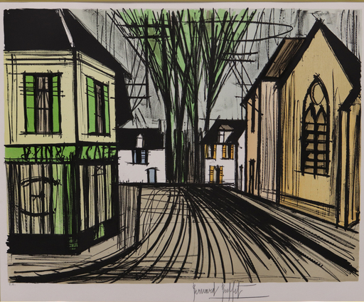 Bernard BUFFET - Estampe-Multiple - La rue
