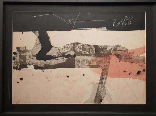 Manolo MILLARES - Painting - Hombre estirado