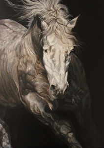 Gilles CAPTON - Pittura - Percheron de face
