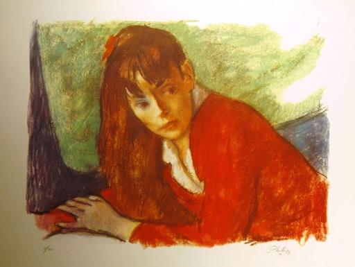 Robert PHILIPP - 版画 - Jeune Fille En Rouge and Pensive Girl