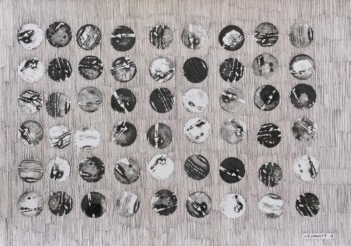 """Jérémie IORDANOFF - Drawing-Watercolor -  n°667  """"Les barriques"""""""