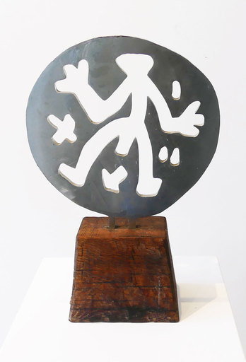 A.R. PENCK - Sculpture-Volume - Standart in Weltenrund