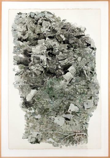 Jean-Paul AGOSTI - Zeichnung Aquarell - Tao, vert et noir