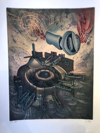 "Roberto MATTA - Print-Multiple - Hom'mere Chaosmos entitled ""Chaosmos"""