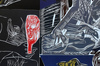 Mimmo PALADINO - Grabado - Ulysses Series -4 woodcuts
