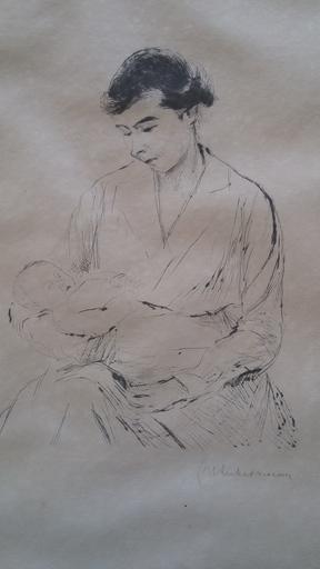 Max LIEBERMANN - Druckgrafik-Multiple - Mother and Child | Mutter und Kind