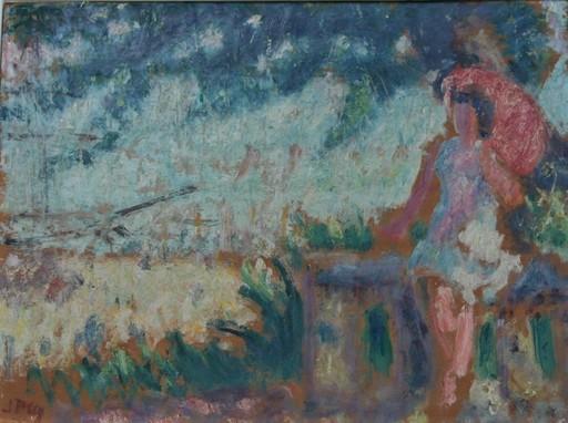 Jean PUY - Painting - Femme à l'ombrelle