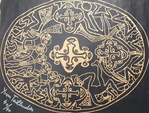 Yvon TAILLANDIER - Druckgrafik-Multiple - Tribal noir