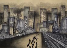 Géraldine THEUROT - Gemälde - Urban IX    (Cat N° 4998)