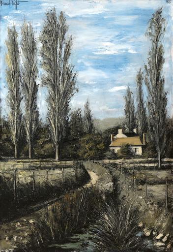 Bernard BUFFET - Painting - Sainte-Marie, le petit château, Yonne