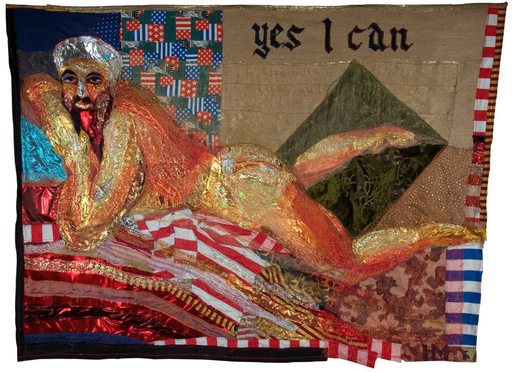 Hassan MUSA - 绘画 - Great American Nude N.4 (Yes I can)