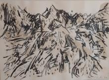 Günther UECKER - Drawing-Watercolor - Carrara