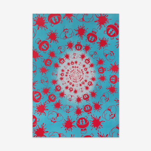 John ARMLEDER - Druckgrafik-Multiple - No Stain, No Gain (Blue & Pink Edition)