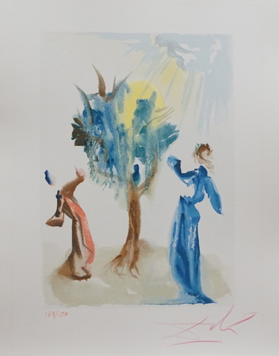萨尔瓦多·达利 - 版画 - Divine Comedy Purgatory Canto 24